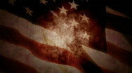 Stock Video Footage of Grunge US Flag