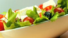 Healthy Eating Salad Stock Footage