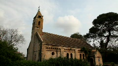 The Evangelical church in Alonei Abba-Waldheim, the only church built in Israe Stock Footage