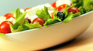 Healthy Eating Salad Stock Footage