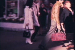 French street scenes - From 1960's film Stock Footage