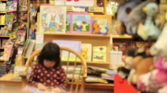 Bookstore Child Stock Footage
