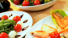 Healthy Seafood Salad Stock Footage