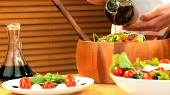 Healthy Mediterranean Eating Stock Footage