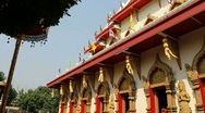 View of a Buddhist Temple Stock Footage