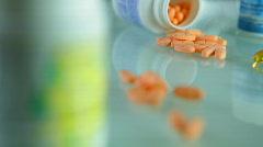 Pills - crane shot Stock Footage