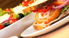 Healthy Salad Sandwich Stock Footage