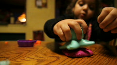 Girl with Clay 1526 Stock Footage