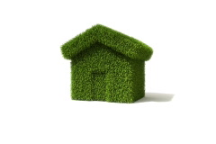 Grass covered house growing out of the ground. - stock footage