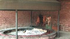 Estancia La Cinacina cooking Stock Footage