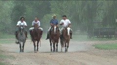 Gauchos in Argentina  - stock footage