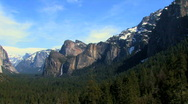 Yosemite Valley Pan Stock Footage