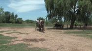 Gaucho driving a wagon Stock Footage