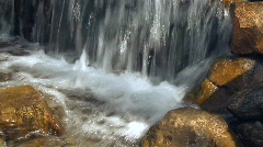 Waterfall with rocks  Stock Footage