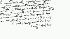 Specific handwriting of Leonardo da Vinci (mirror), right to left. Stock Footage