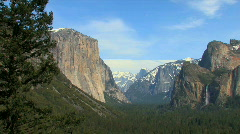 Yosemite Valley Medium Pan Stock Footage