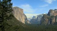 Yosemite Valley Medium Pan Stock Footage