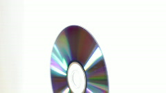 Rotating cd/dvd disc Stock Footage