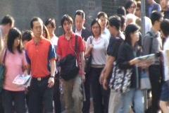 HONG KONG-PEDESTRIANS 1 Stock Footage