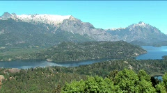 View of Lakes Distict Bariloche Argentina  Stock Footage