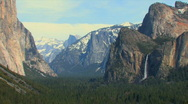 Yosemite Valley Zoom Out Stock Footage