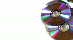 Rotating stack of cd/dvd discs loopable Stock Footage