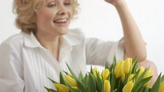 Stock video footage pretty woman female age and beauty Stock Footage