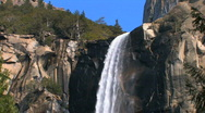 Yosemite Waterfall Zoom Out Stock Footage