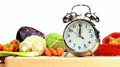 Time to Eat Fresh Vegetables Stock Footage
