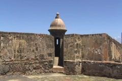 Puerto Rico - San Juan: San Cristobal Fort guerite 1 Stock Footage
