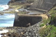 Puerto Rico - San Juan: San Cristobal Fort Devil Guerite Stock Footage