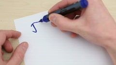Writing THANK YOU - HD 1080p - stock footage
