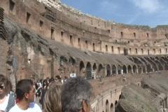 Colosseum, Rome, interior 1 Stock Footage