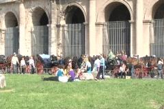Colosseum Rome exterior 2 Stock Footage