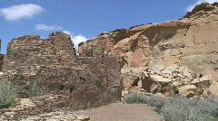 Pueblo Bonito 2 - Chaco Canyon - stock footage