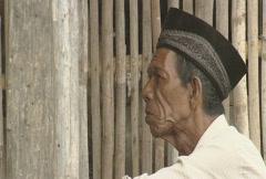 Komodo island old muslim man  Stock Footage