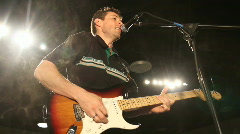 Playing Guitar On Stage Stock Footage