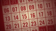 Stock Video Footage of Calendar Month Red