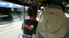 View From the Backseat of a Tuk Tuk - stock footage