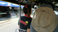 View From the Backseat of a Tuk Tuk Stock Footage