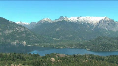 View of Lakes Distict above Bariloche Argentina  Stock Footage