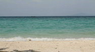 Small waves, white beach Stock Footage