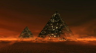 Stock Video Footage of Mystical 3D Pyramids
