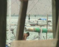 Komodo Island harbor view 2  Stock Footage