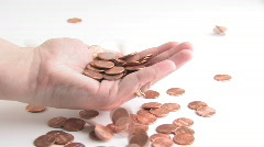 Catching Pennies From Heaven Stock Footage