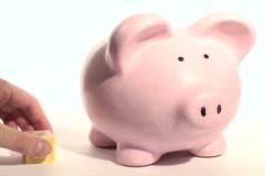Piggy bank 401K - NTSC Stock Footage