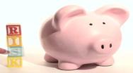 Piggy bank RISK V2 - NTSC Stock Footage