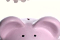 Piggy bank close-up V2- NTSC Stock Footage