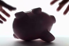 Right side up piggy bank - NTSC Stock Footage