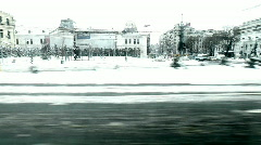 Winter Cityscape Stock Footage